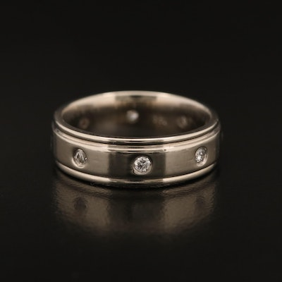 14K Gypsy Set Diamond Band