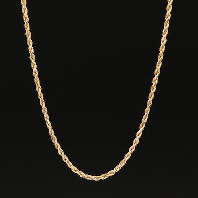 14K Rope Link Necklace