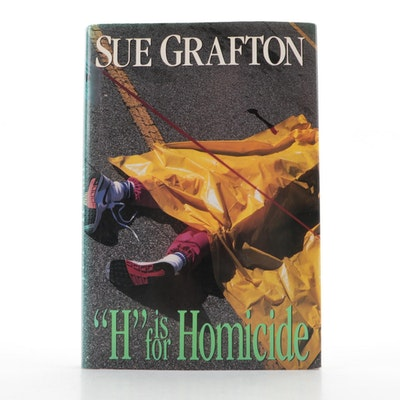 "Signed First Edition ""'H' is for Homicide"" by Sue Grafton, 1991"
