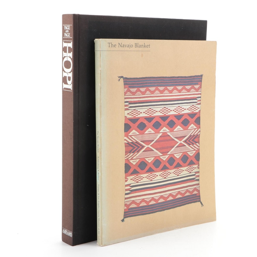 """""""Hopi"""" by Susanne and Jake Page and """"Navajo Blanket"""" by Kahlenberg and Berlant"""
