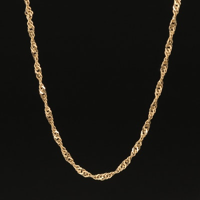 14K Twisted Curb Link Necklace