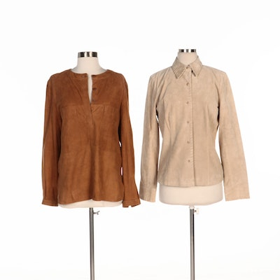 August Silk Logic Suede Jacket and Brown Suede Pullover Shirt