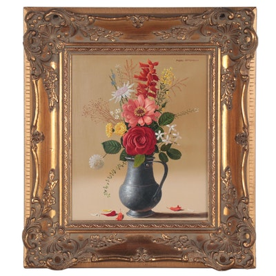Piero Antonelli Floral Still Life Oil Painting