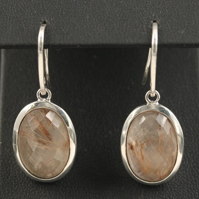 Metalsmiths Sterling Quartz Oval Earrings