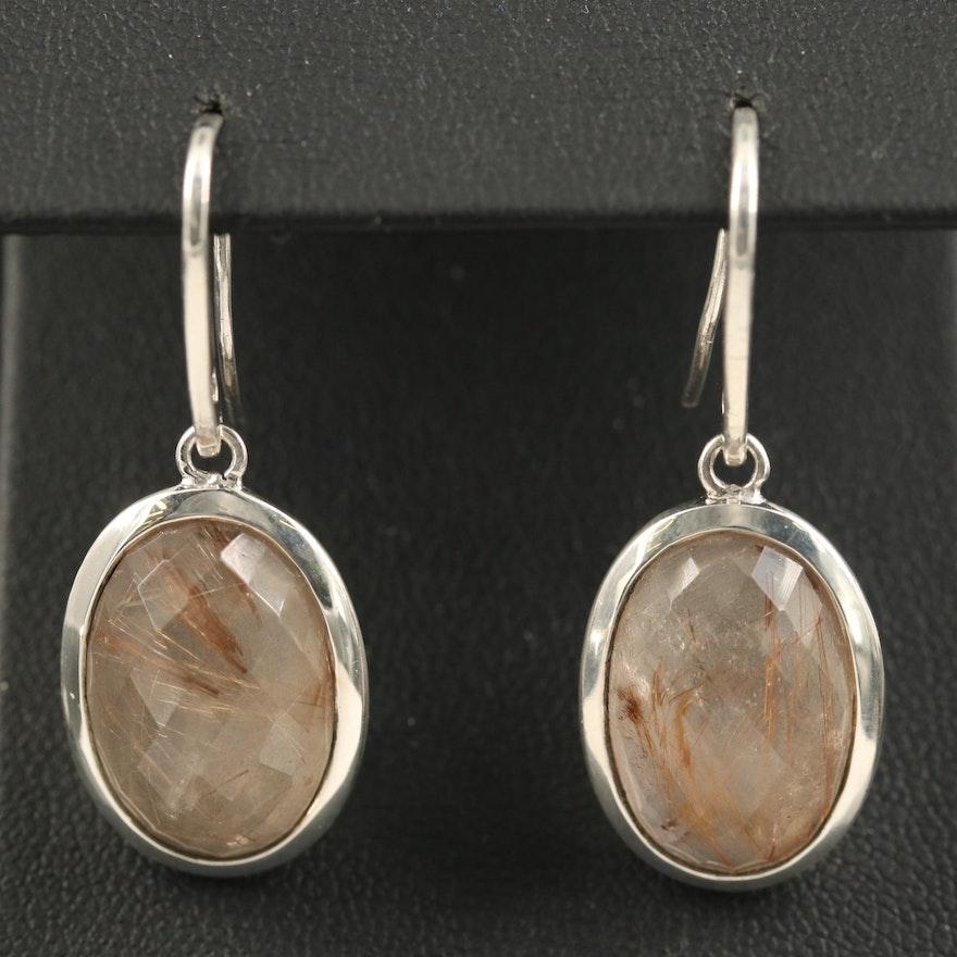 Metalsmiths Sterling Quartz Oval Earrings