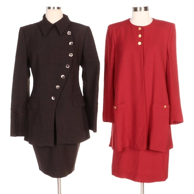Sonia Rykiel and Martine Sitbon Skirt Suits