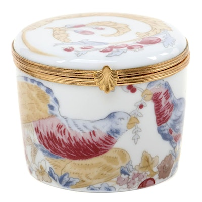 Raynaud Limoges Porcelain Trinket Box
