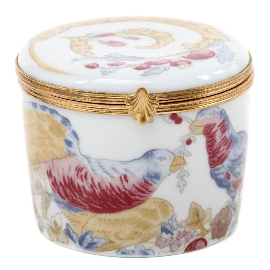 Raynaud Limoges Porcelain Trinket Box