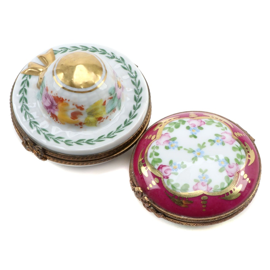 Dubarry and Other Hand-Painted Porcelain Limoges Box