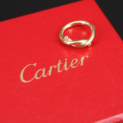 "Cartier 18K ""Entrelacés"" Band with Box and Certificate of Authenticity"