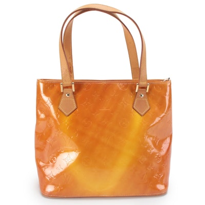Louis Vuitton Houston Tote in Monogram Vernis and Vachetta Leather