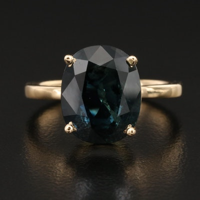 18K 6.63 CT Sapphire Ring