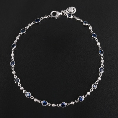 EFFY 14K Sapphire and Diamond Station Bracelet