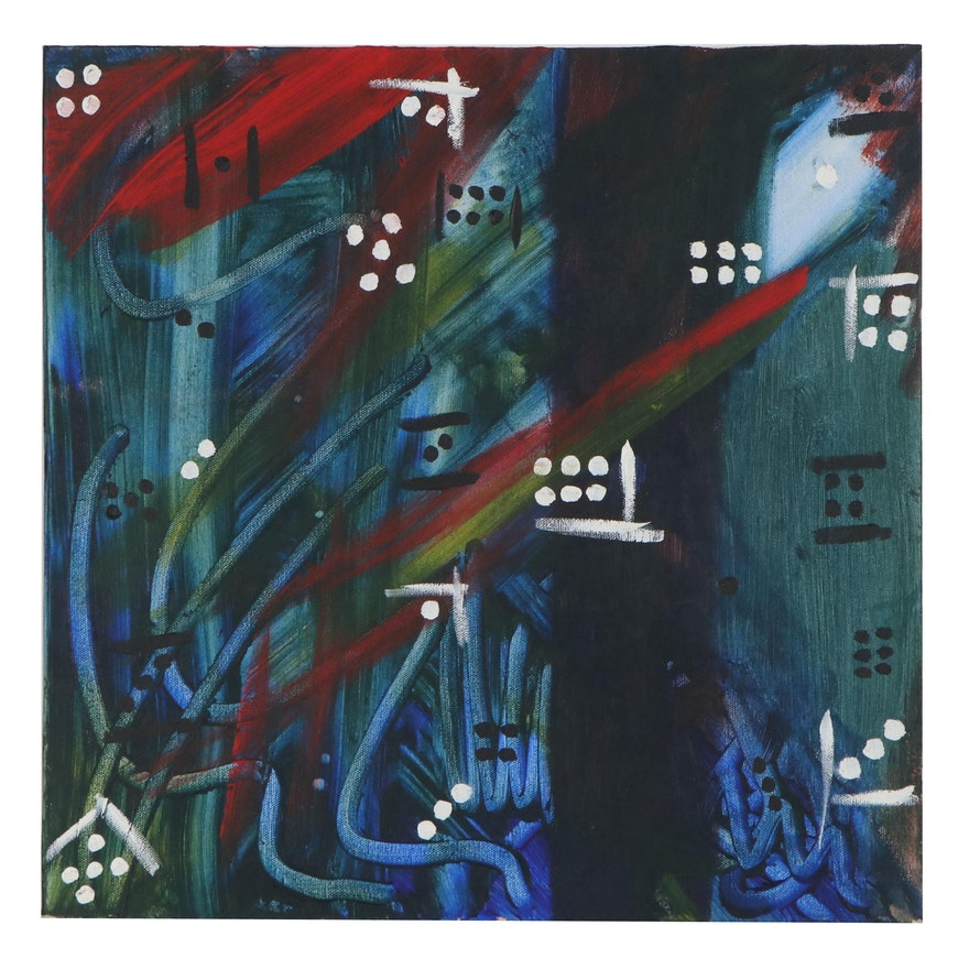 Abstract Acrylic Painting, 21st Century
