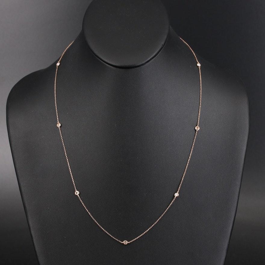 EFFY Diamond Station Necklace