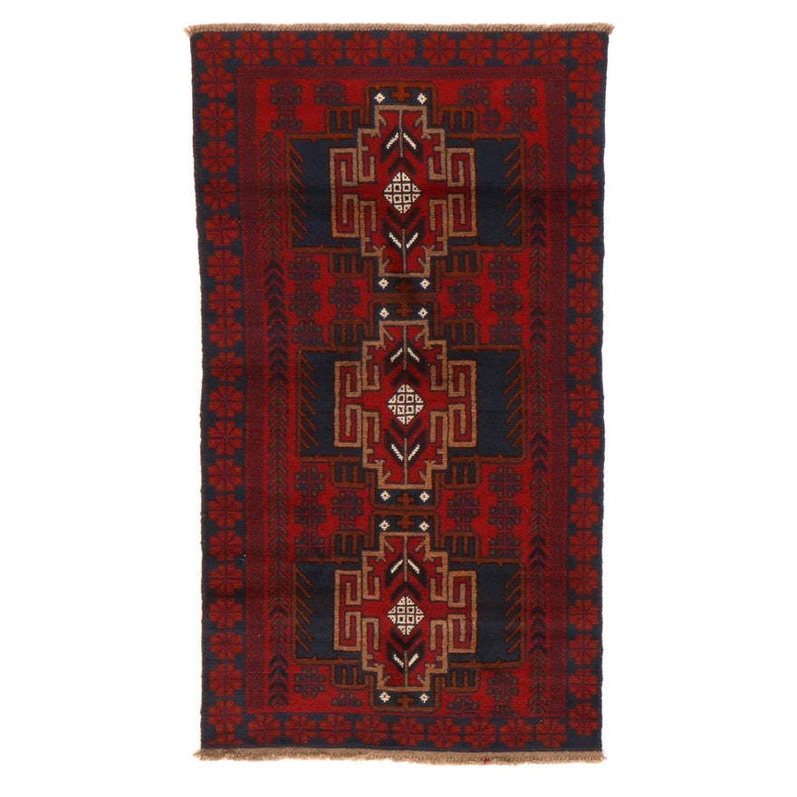 3'5 x 6'2 Hand-Knotted Afghan Baluch Area Rug