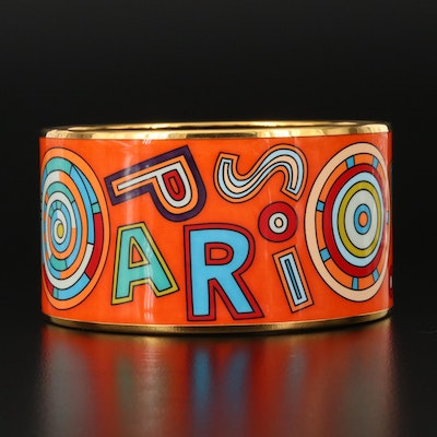 Hermès Extra Wide Enamel Bangle