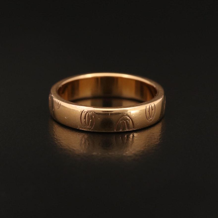 "Cartier ""Logo de Cartier"" 18K Rose Gold Band"