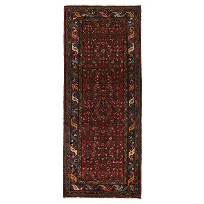 4'1 x 10'1 Hand-Knotted Persian Kurdish Herati Long Rug
