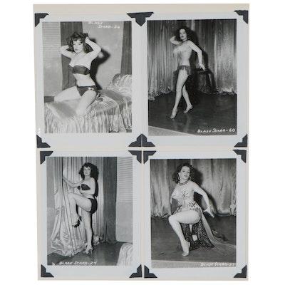 Blaze Starr Pin-up Silver Gelatin Photographs after Irving Klaw