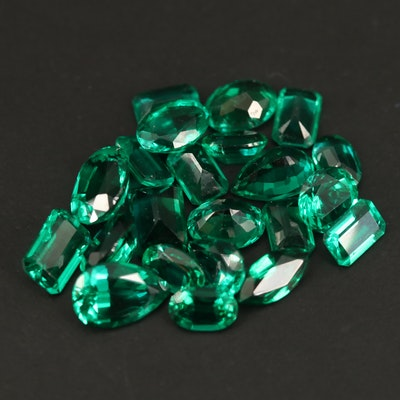 Loose Laboratory Grown Faceted Emeralds