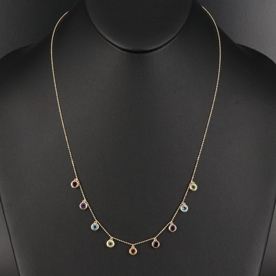 EFFY 14K Multi-Gemstone Station Necklace