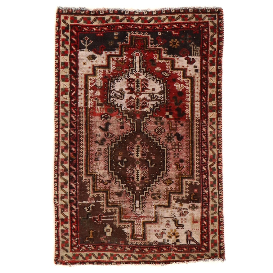 3'1 x 4'9 Hand-Knotted Persian Shiraz Accent Rug