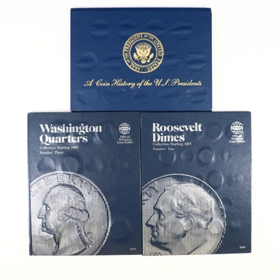 Three Folders of U.S. Coins and Tokens
