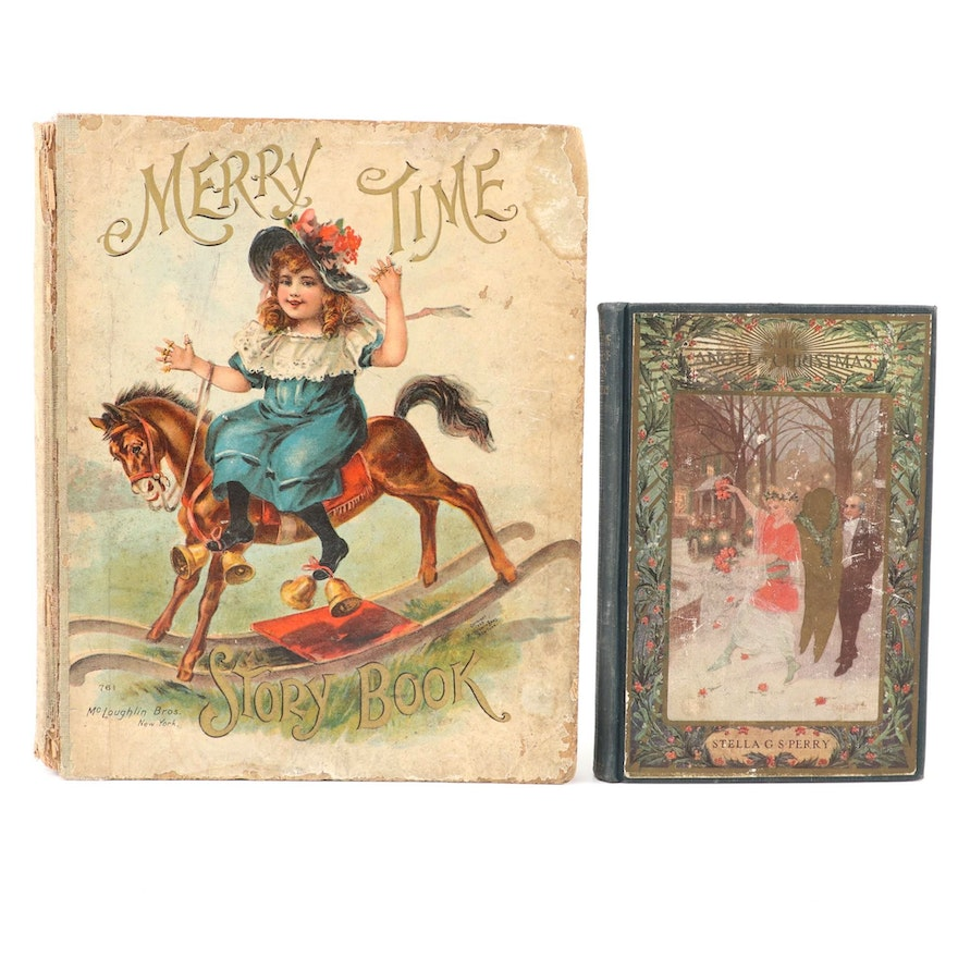 """""""The Angel of Christmas"""" and """"Merry Time Story Book,"""" Early 20th Century"""