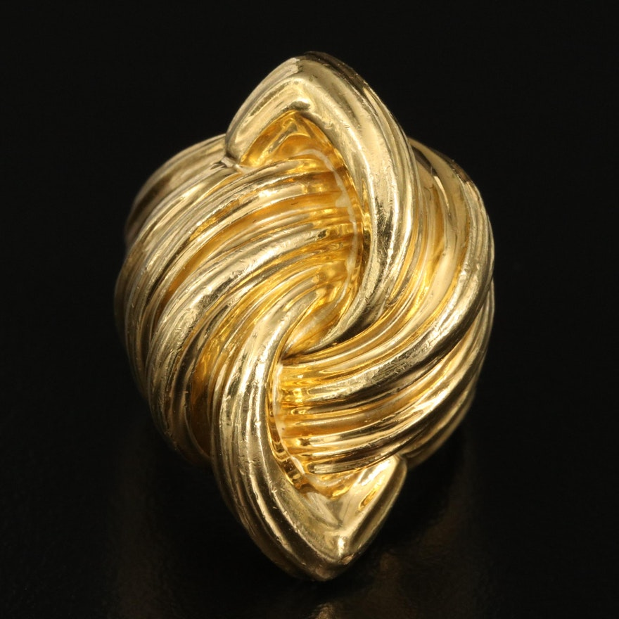 Henry Dunay 18K Fluted Knot Ring
