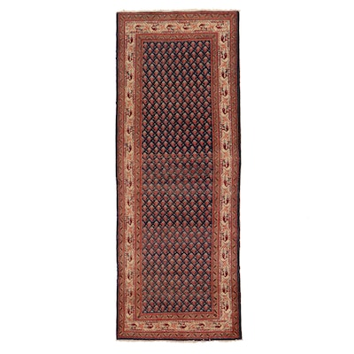 3'9 x 10'3 Hand-Knotted Indo-Persian Mir Long Rug