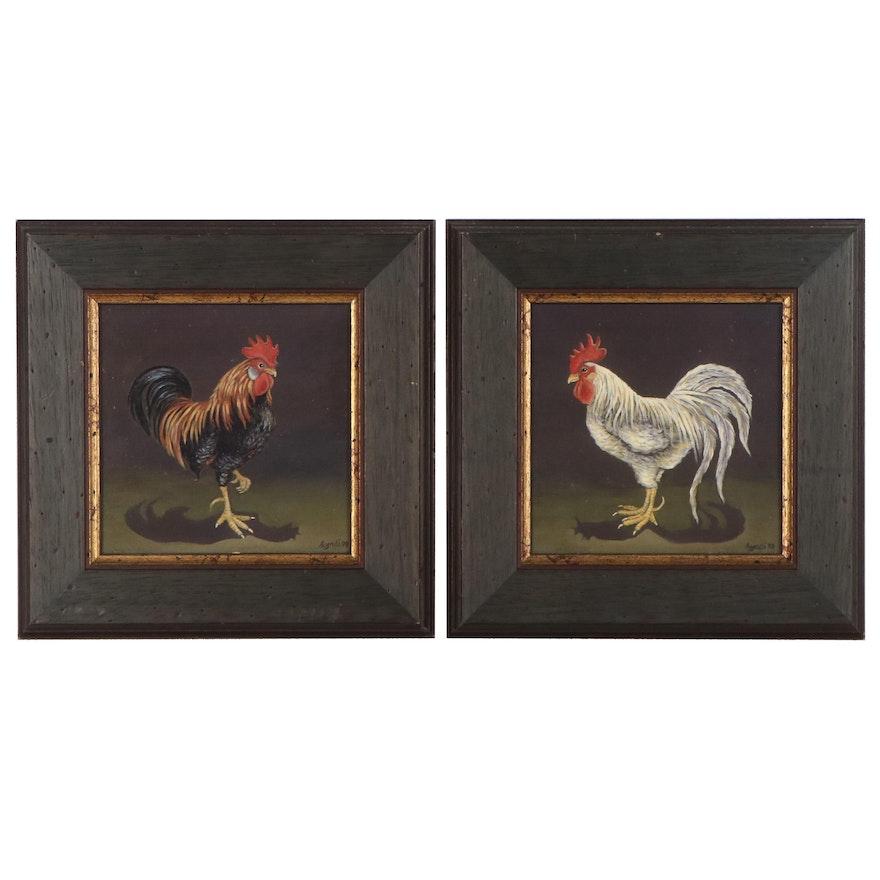 Oil Paintings of Roosters, 1998