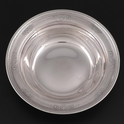 Meriden Britannia Co. Floral Motif Sterling Silver Bowl, Late 19th/Early 20th C.