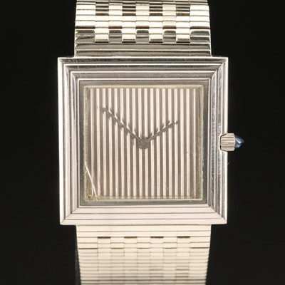 1984 Boucheron 18K White Gold Quartz Wristwatch