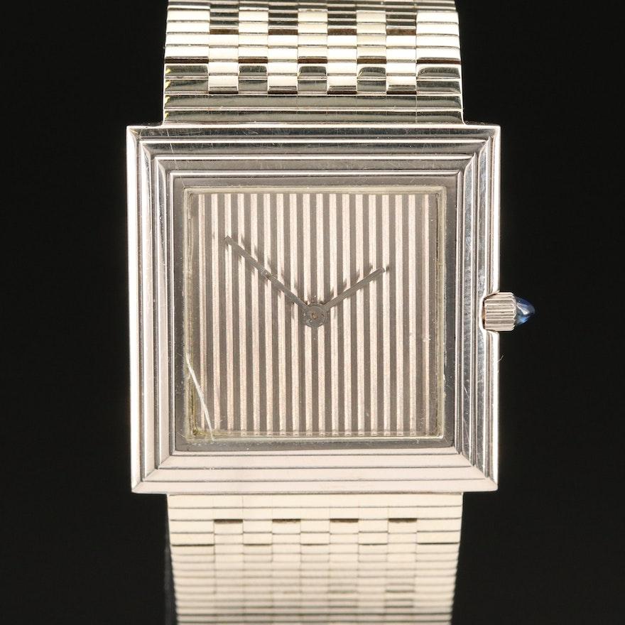 1984 Boucheron 18K White Gold Quartz Wristwatch
