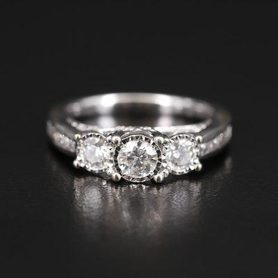 14K Illusion Set Diamond Ring