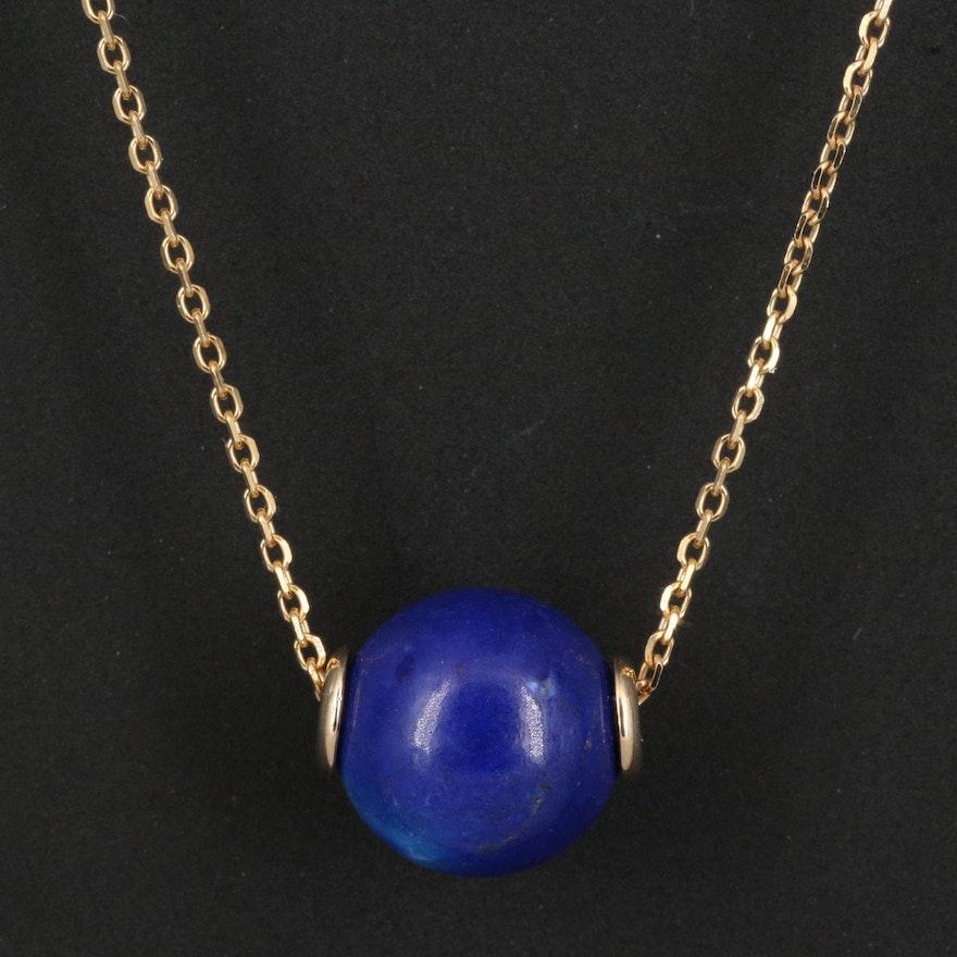EFFY 14K Lapis Lazuli Bead Pendant Necklace
