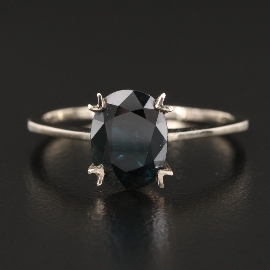14K 2.70 CT Sapphire Solitaire Ring