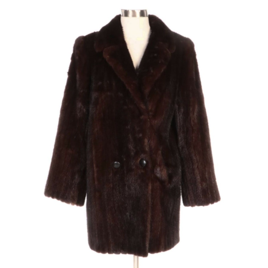 The Evans Collection Mink Fur Double-Breasted Coat