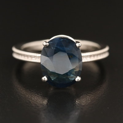 14K 2.82 CT Sapphire Solitaire Ring