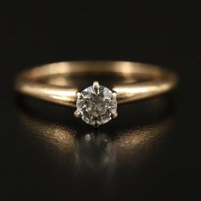 14K 0.38 CT Diamond Solitaire Ring