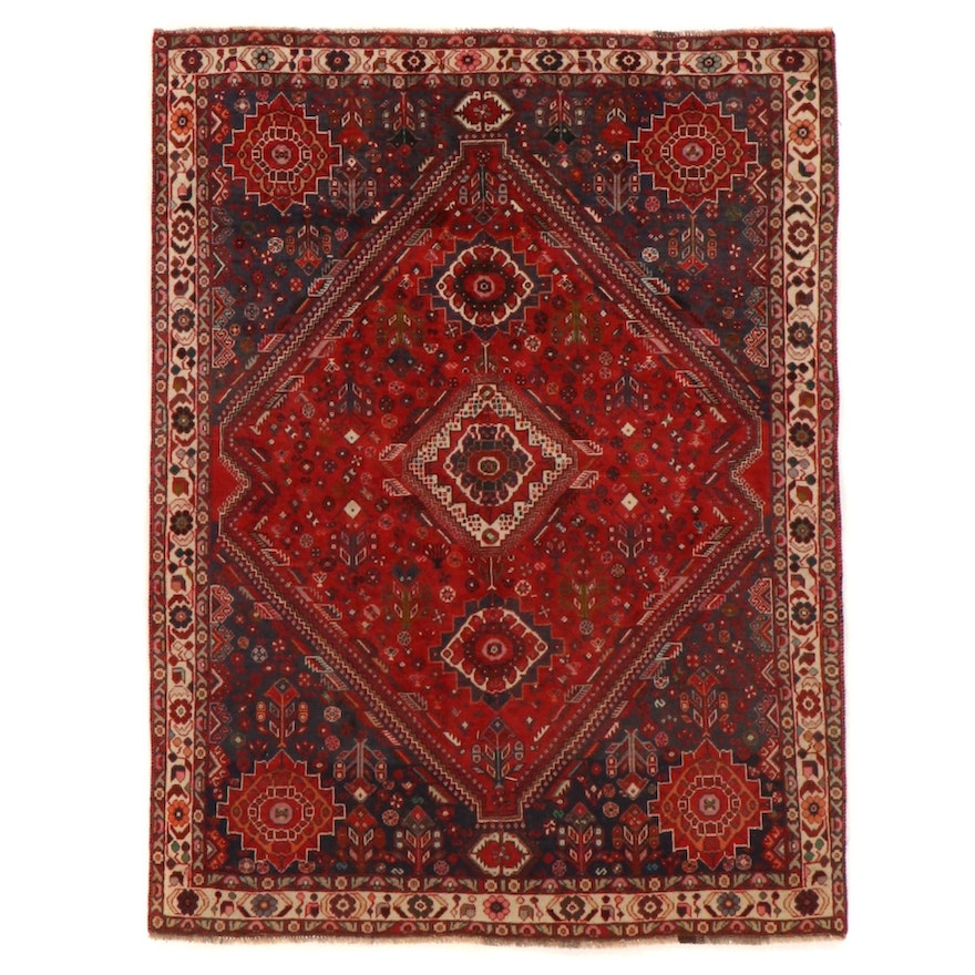 5'5 x 7'2 Hand-Knotted Persian Qashqai Area Rug