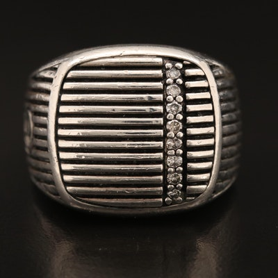 David Yurman Sterling Diamond Ring