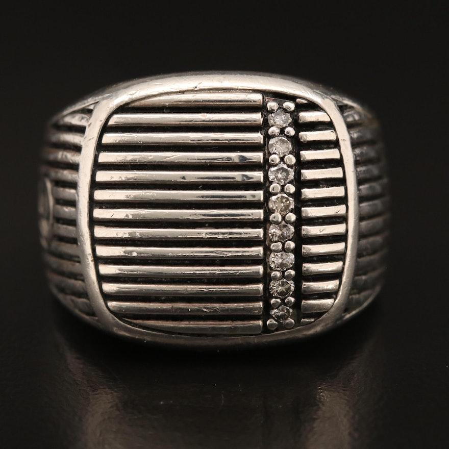 David Yurman Sterling Diamond Ring