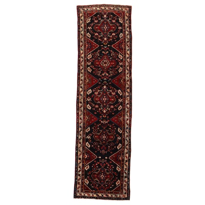 4' x 14'5 Hand-Knotted Persian Hamadan Long Rug