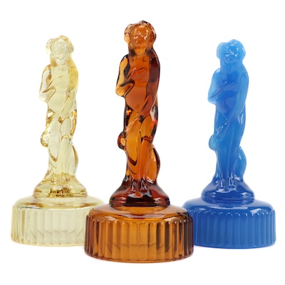 "Imperial Glass Pressed Glass Figurines After Cambridge Glass ""Bashful Charlotte"""