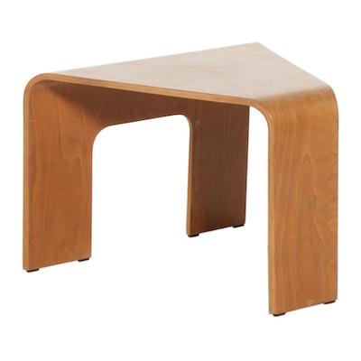 "Ekornes ""Stressless"" Laminated Beech Corner Table"