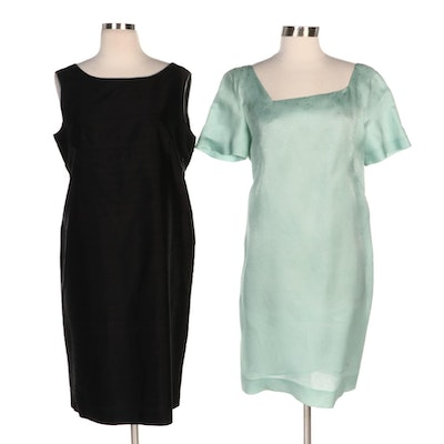 Mammaluna and Raymonde G. Silk and Textured Dresses