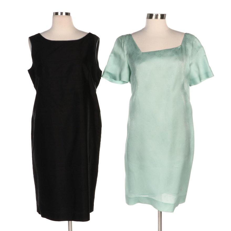 Mammaluna and Raymonde G. Silk and Textured Dresses