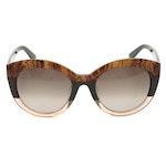 ETRO ET600SA Paisley Green Modified Cat Eye Sunglasses